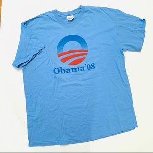 Obama '08 Blue Graphic Tee XL
